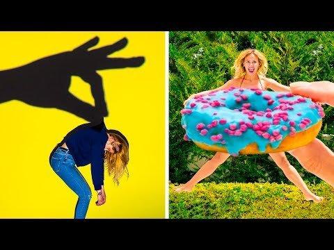 Смешные и креативные идеи для фотографий