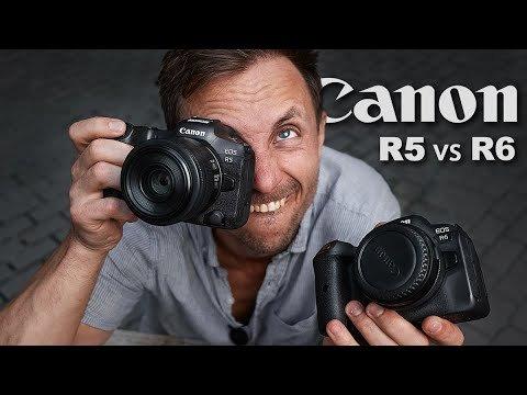 Canon R5 vs R6 тест