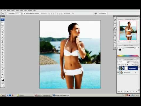 Как сделать в фотошопе загорелое тело